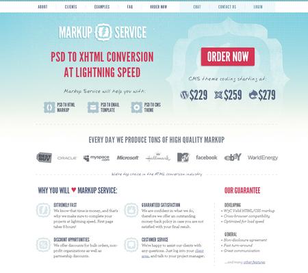 Гавная страница markup-service
