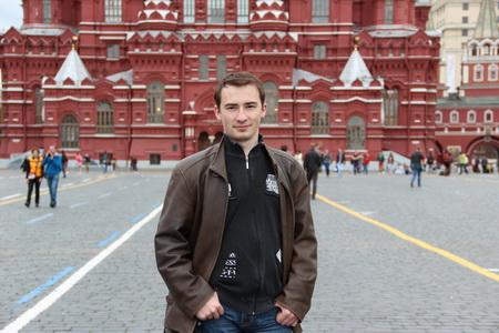 Даниил Шардаков на красной площади