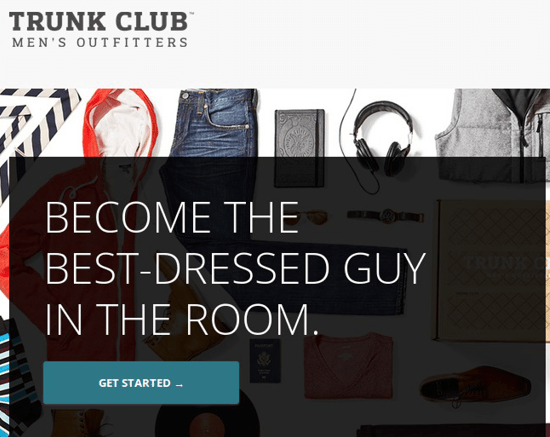 Пример заголовка TRUNK CLUB
