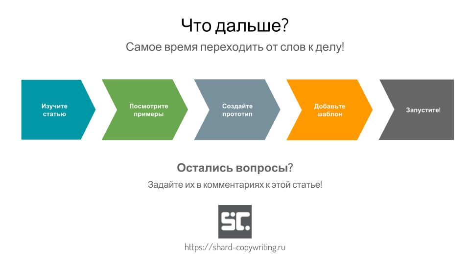 Заключительный слайд: призыв к действию