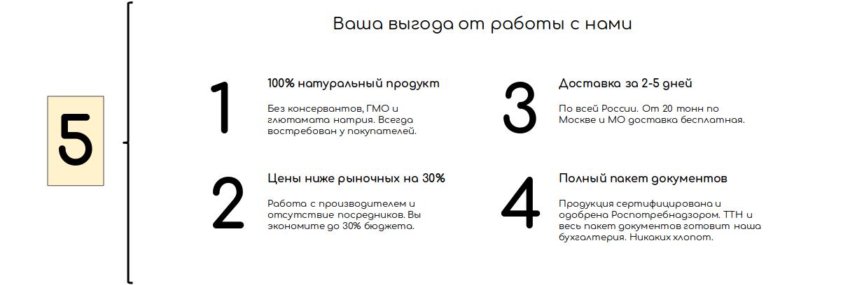 Пятый блок текста о компании: конкурентные преимущества