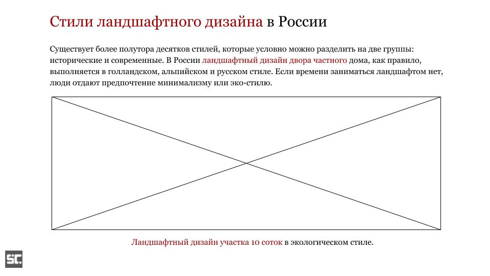 Ключевые слова в подзаголовке и подписи под изображением