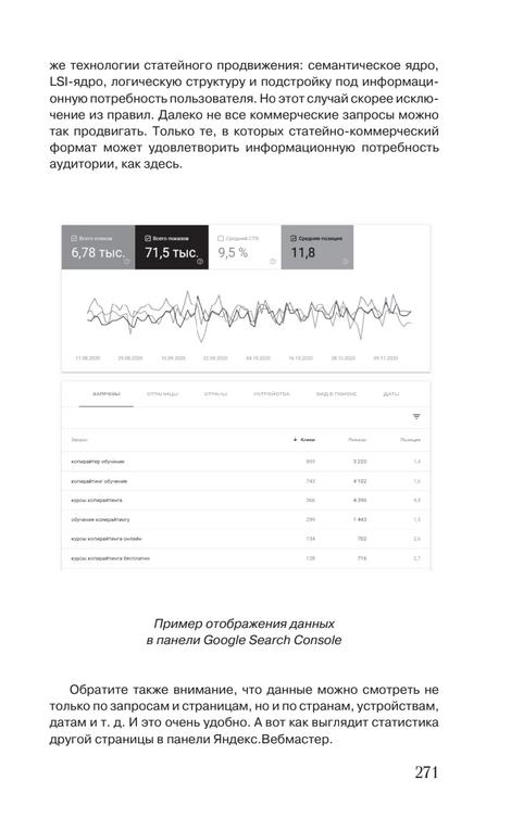 Страница с отображением аналитической системы